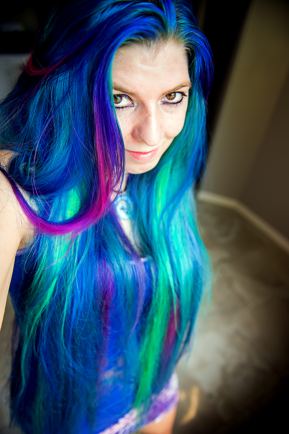 Rainbow Hair Multi Colored Hair Manic Panic Dye Hard Lizzy Davis